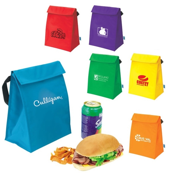 "I-cool (tm) - Lunch Sack With 15"" Carry Strap And Velcro Closure Photo"