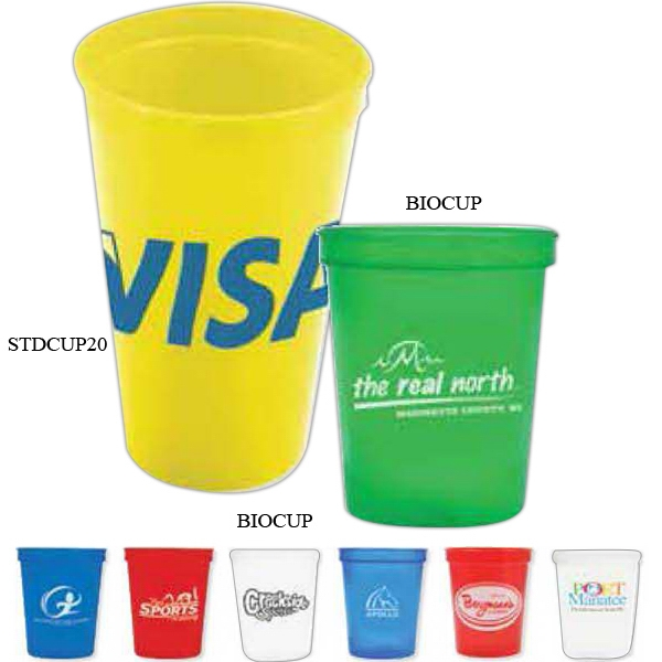 16 Oz Stadium Cup Made Of Biodegradable Durable Plastic Photo