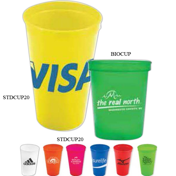 20 Oz Stadium Cup Made Of Biodegradable Durable Plastic Photo