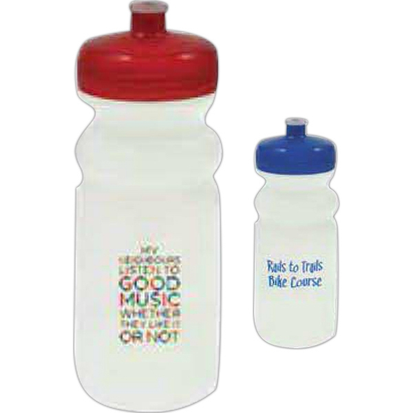20 Oz Water Bottle With Push Pull Lid Photo