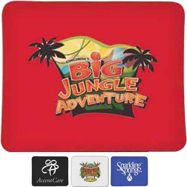 "Cloth Covered Mouse Pad With 1/8"" Thick Rubber Backing Photo"