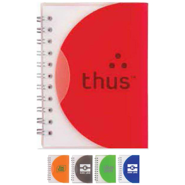Write-away - Mini Spiral Notebook With Plastic Cover That Tucks In To Close Photo