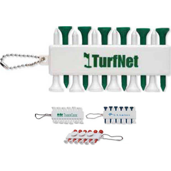 Golf Tee Set With Durable Plastic Tees And 3 Ball Markers Photo