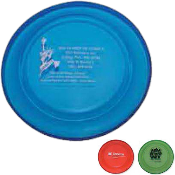 "Crown - Full Size 9"" Flying Disc In Transparent Colors. Biodegradable Photo"