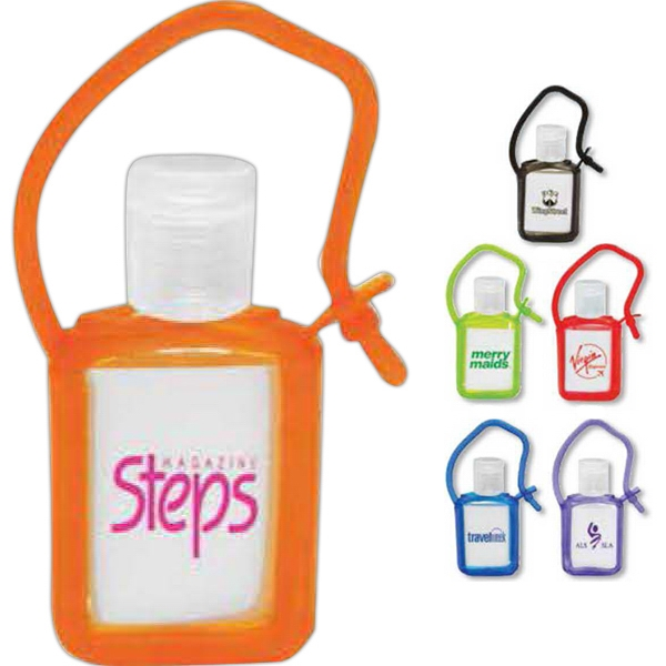 Tag Along - Hand Sanitizer Gel In Colored Rubber Tag-a-long Case Photo