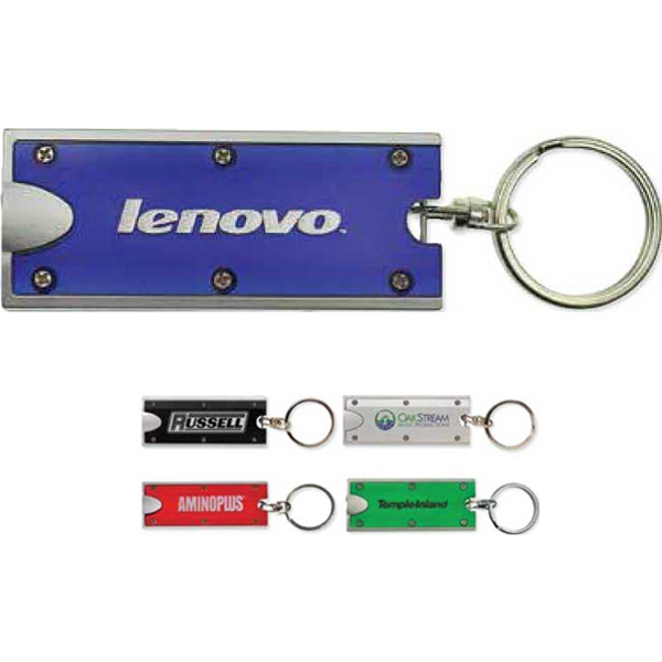 Double Vision - Key Chain With Dual Led Lights And Split Key Ring Attached Photo