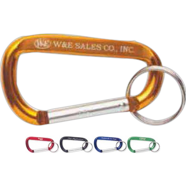 Carabiner With Split Key Ring Attached Photo