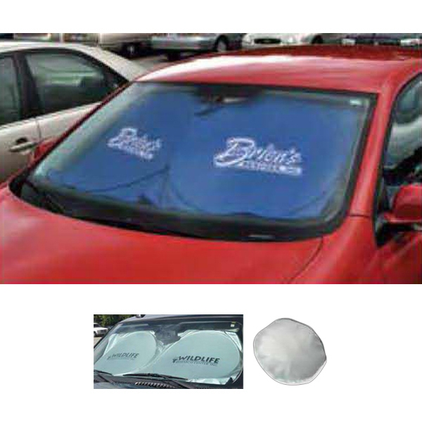 Auto Sun Shade Made From Light Reflective Material Photo