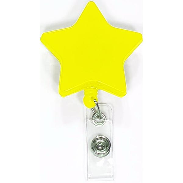 Star shape retractable badge holder BNoticed | Put a Logo on