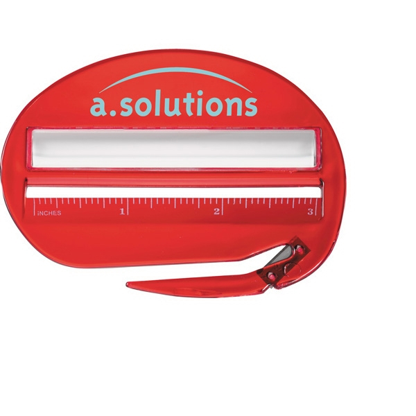Combination Of 3-inch Ruler, Letter Opener And Magnifier Photo