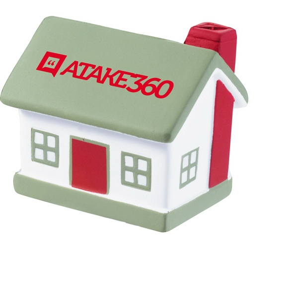 Polyurethane. Squeezable Foam House Shaped Stress Reliever Photo