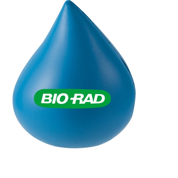 Water Drop Shaped Stress Reliever. Polyurethane, Squeezable Foam Photo