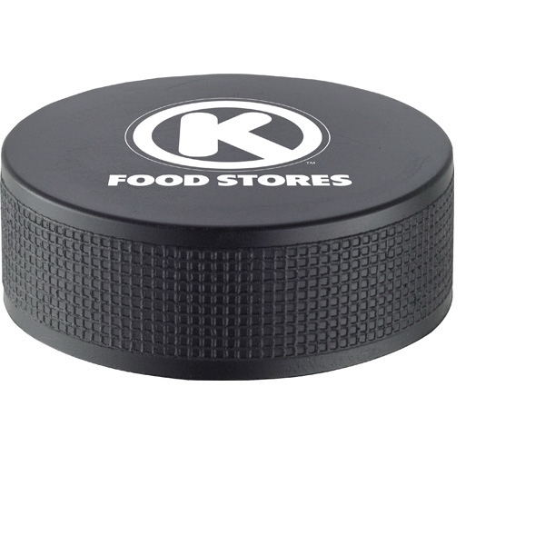 Hockey Puck Shaped Polyurethane Stress Reliever Photo