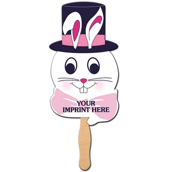 Bunny Shape Fan On A Stick. Made From High Density White Poster Board Photo