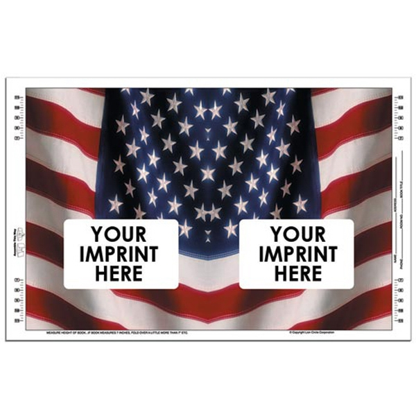 American Flag Book Cover Made From 100 Lb., Gloss Text Stock Photo