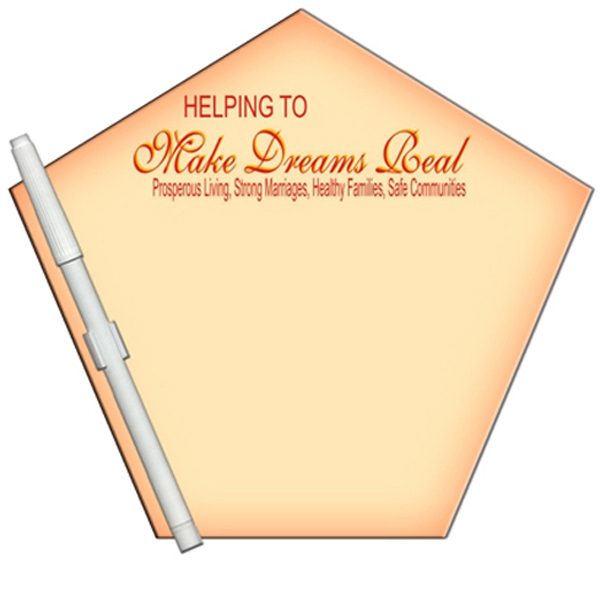 Church Shaped Dry Erase Memo Board With Marker Photo
