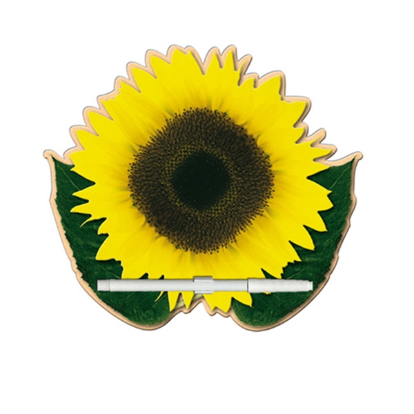 Sunflower Shaped Dry Erase Memo Board With Marker Photo