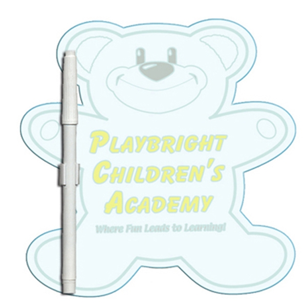 Teddy Bear Shaped Dry Erase Memo Board With Marker Photo