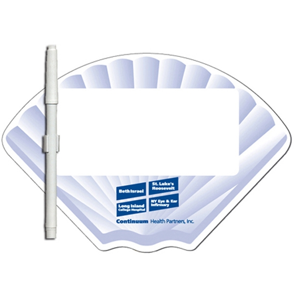 Shell Shaped Dry Erase Memo Board With Marker Photo