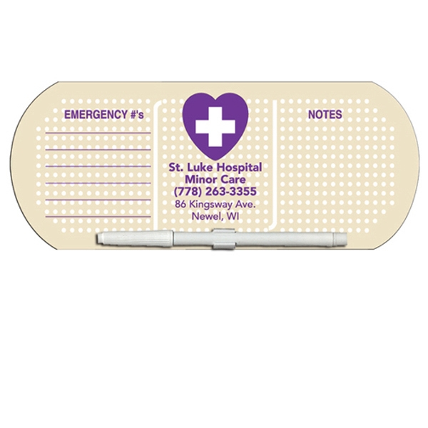 Bandage/pill Shaped Dry Erase Memo Board With Marker Photo