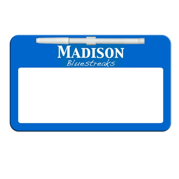 Rectangle Shaped Dry Erase Memo Board With Marker Photo