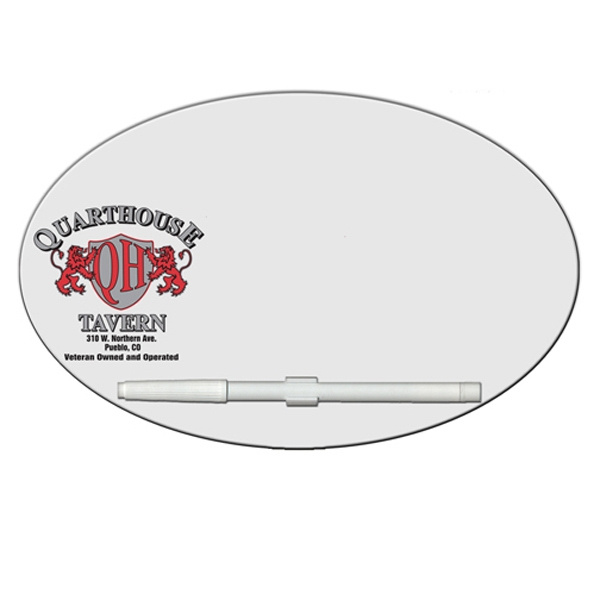 Oval/football Shaped Dry Erase Memo Board With Marker Photo