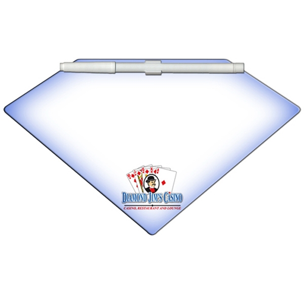 Diamond Shaped Dry Erase Memo Board With Marker Photo