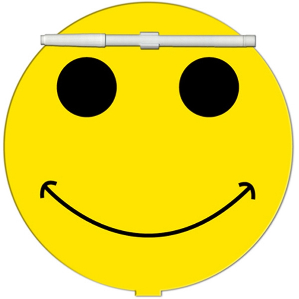 Smiley Face Shaped Dry Erase Memo Board With Marker Photo