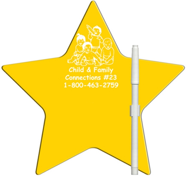 Star Shaped Dry Erase Memo Board With Marker Photo