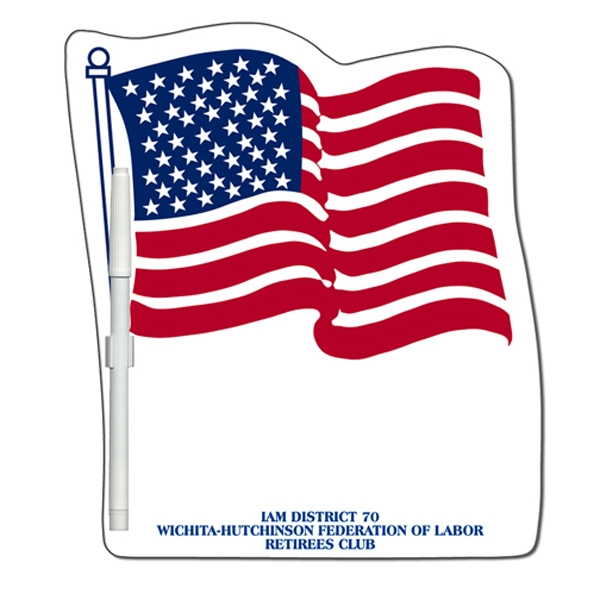 Flag Shaped Dry Erase Memo Board With Marker Photo
