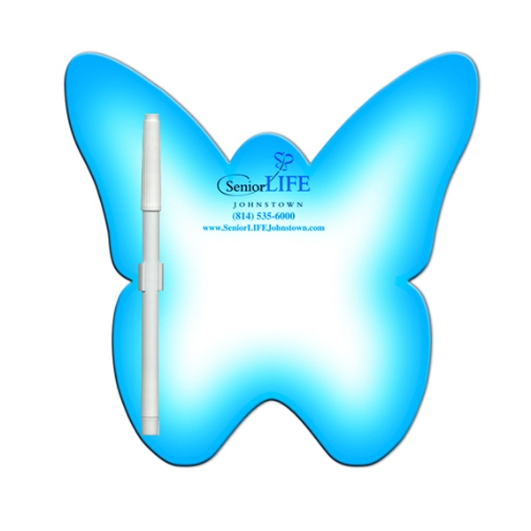 Butterfly Shaped Dry Erase Memo Board With Marker Photo