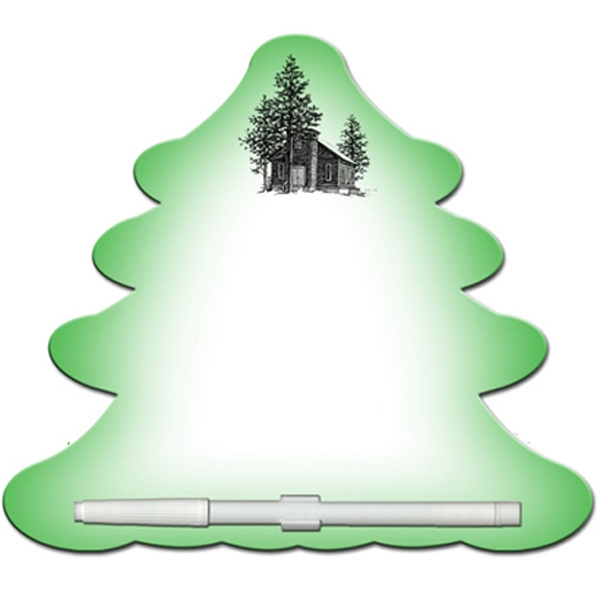 Evergreen Shaped Dry Erase Memo Board With Marker Photo