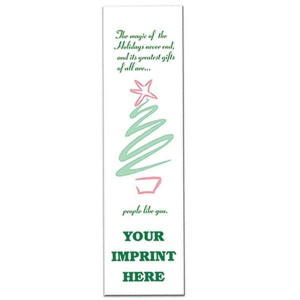 Bookmark With Stylized Christmas Tree Design Photo