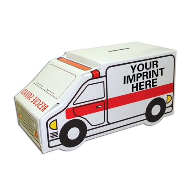 "Ambulance Bank. 6 1/4"" X 3"" X 3"" Photo"