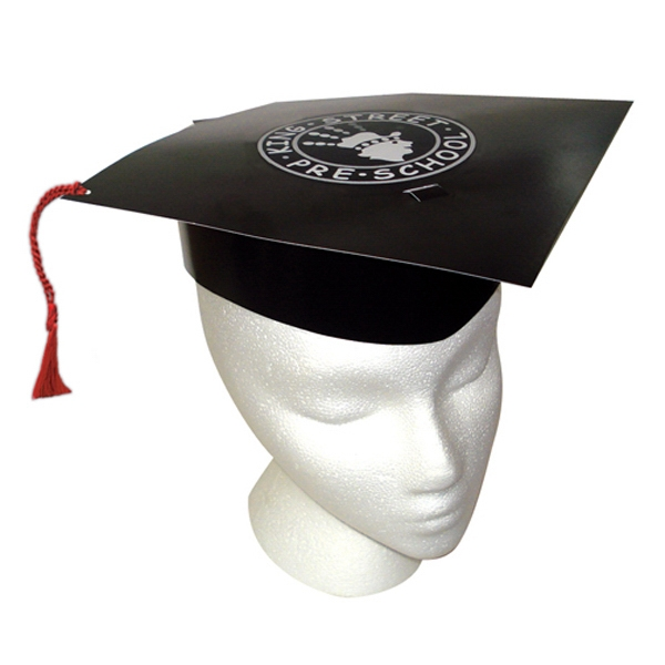 Black Graduation Hat Made Of High Density Poster Board Photo