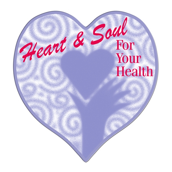 Heart Shaped Hand Fan Without Stick With A High Gloss Finish Photo