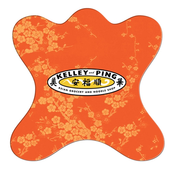 Jack Shaped Hand Fan Without Stick With A High Gloss Finish Photo