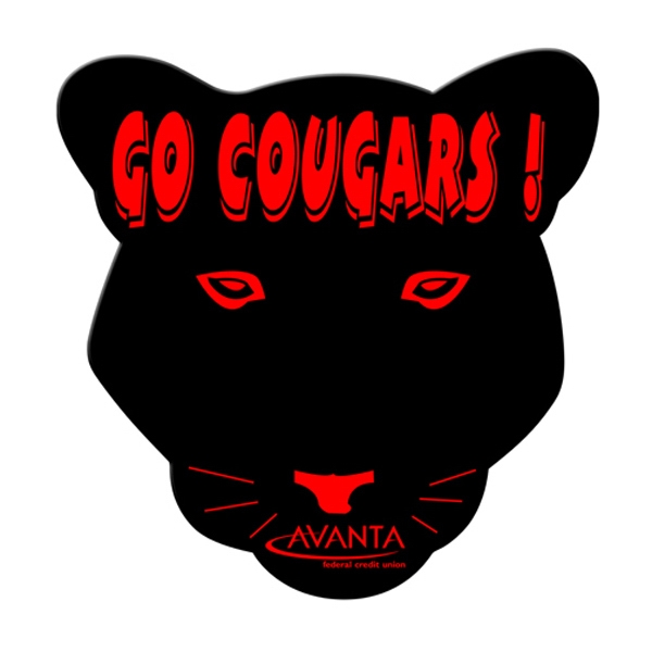 Cougar Shaped Hand Fan Without Stick With A High Gloss Finish Photo