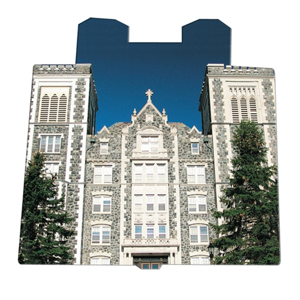 Castle Shaped Hand Fan Without Stick With A High Gloss Finish Photo