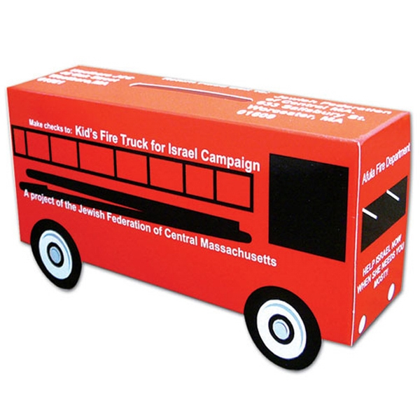 Large Bus Bank, Made From White Poster Board Photo