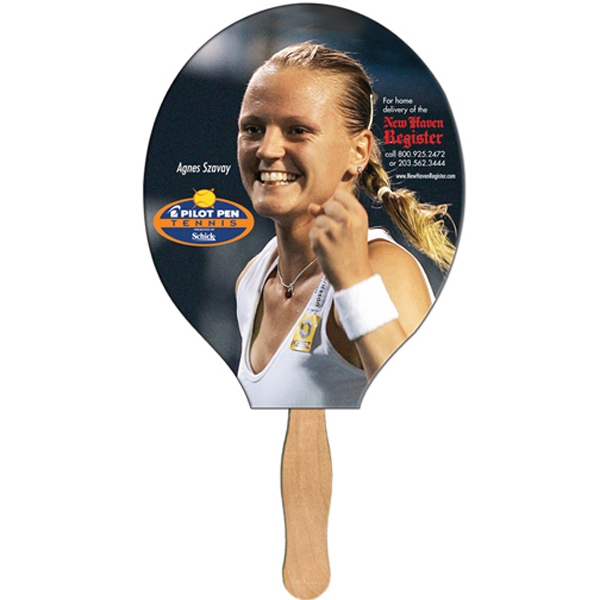 Racquet/guitar Shaped Digital Economy Fans With Double Sided Film Lamination Photo