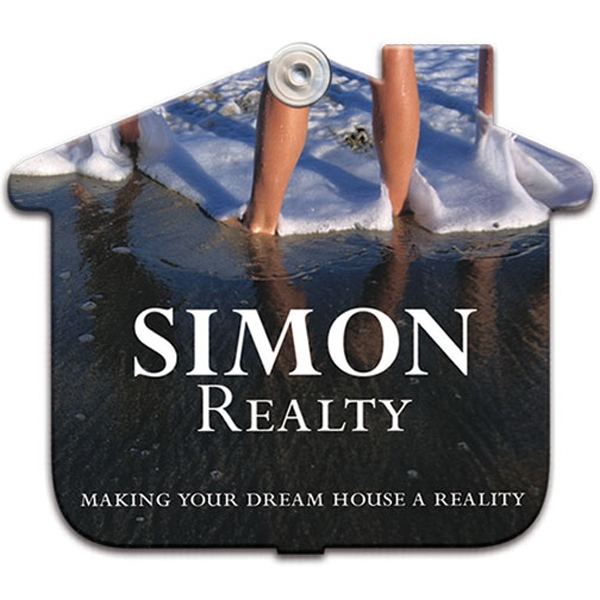"House Shaped Window Sign With Suction Cup (not Attached), 8"" X 8"" Photo"