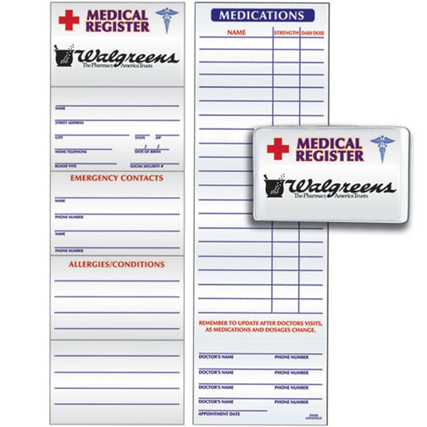 Medical Register Card Made From 8 Pt., Board Stock Photo