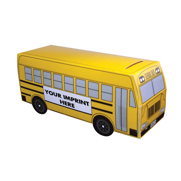 "School Bus Bank, 5 3/4"" X 2"" X 2 1/2"" Photo"
