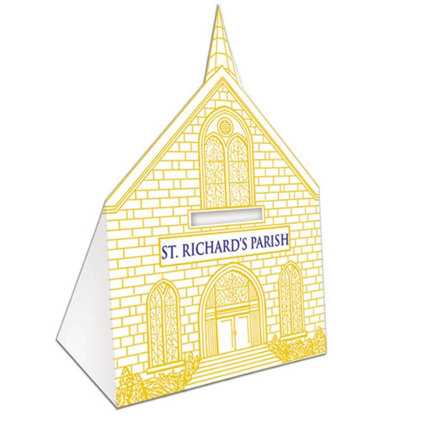 "Recyclable Church Bank, 3 1/2"" X 2 1/4"" X 5 1/2"" Photo"