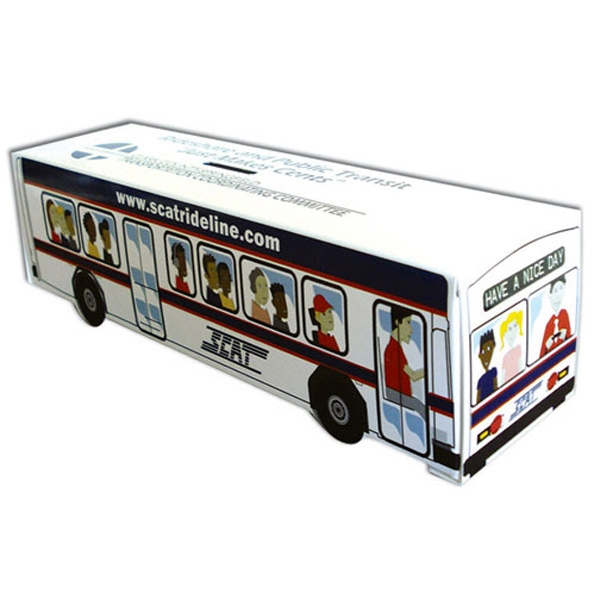 Box Shaped Bus Bank Made From Poster Board Photo