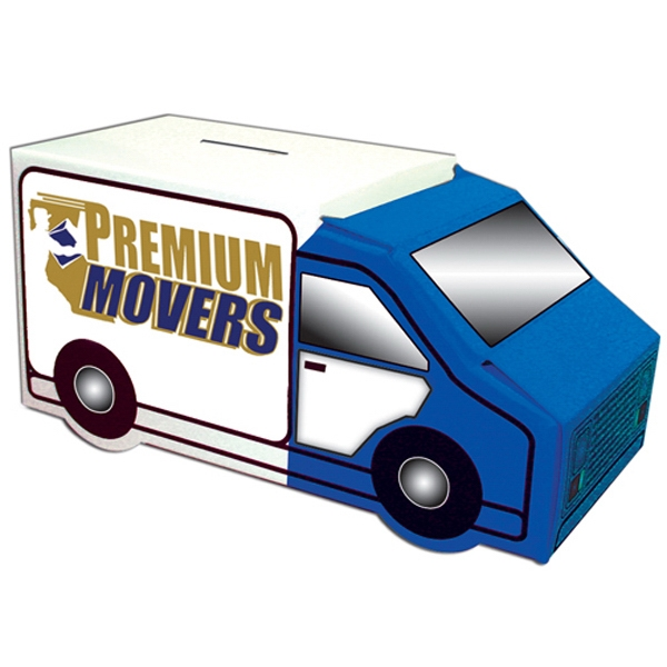 Moving Truck Bank, Made From White Poster Board Photo