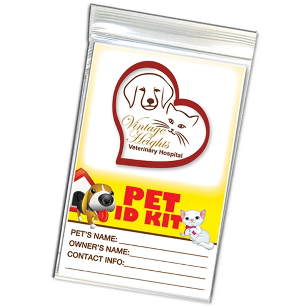 Pet Identification Kit, Printed On 8 Pt. Board Stock Photo