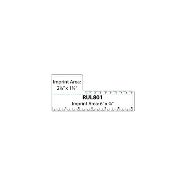 Small Square Shape White Plastic Ruler Photo