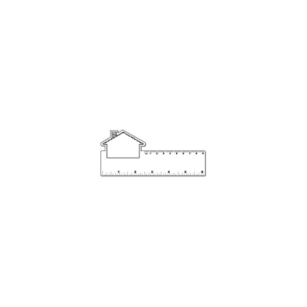 Small House Shape White Plastic Ruler Photo